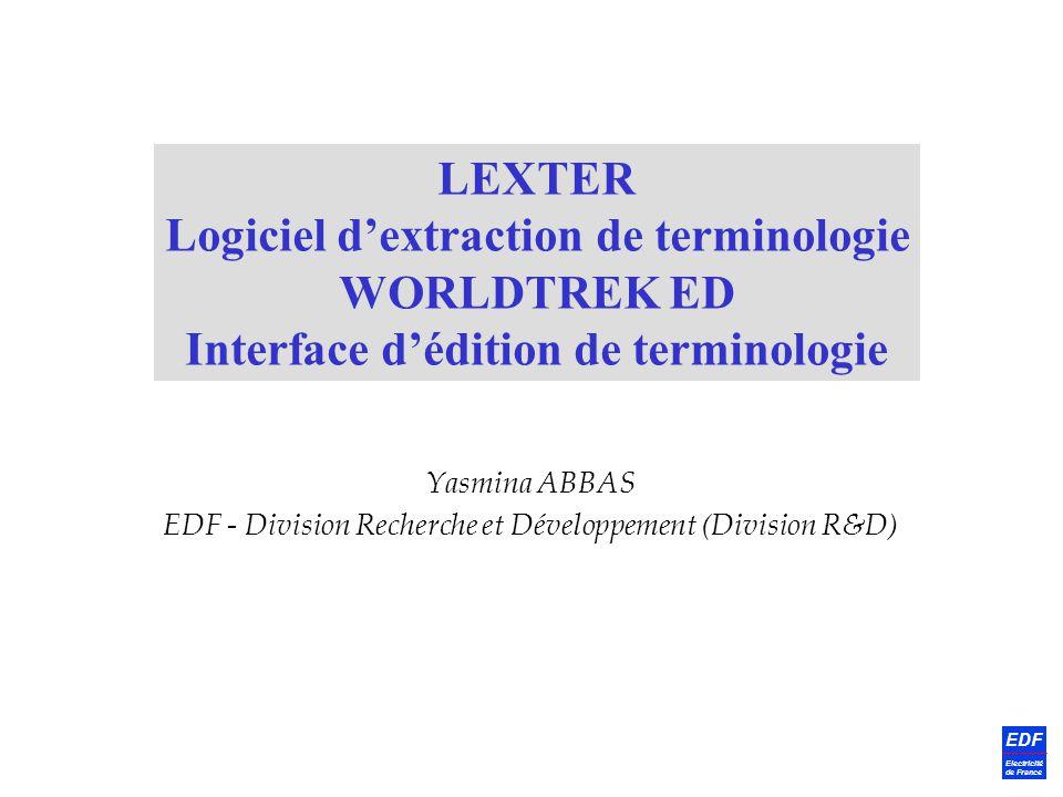 Yasmina ABBAS EDF - Division Recherche et Développement (Division R&D)