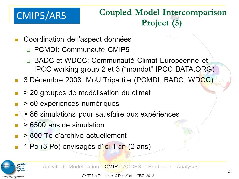 Coupled Model Intercomparison Project (5)‏
