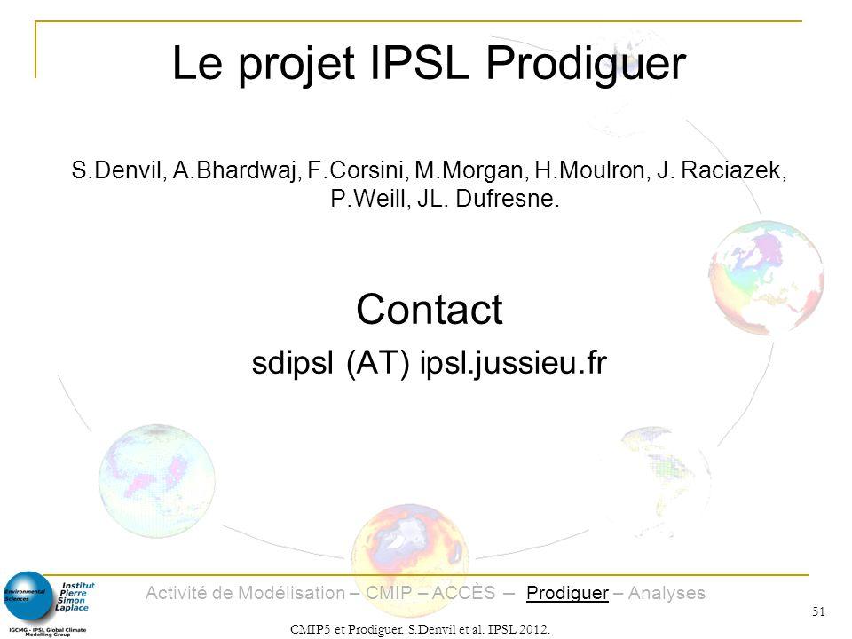 Le projet IPSL Prodiguer