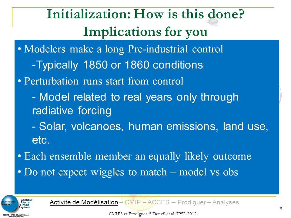 Initialization: How is this done Implications for you