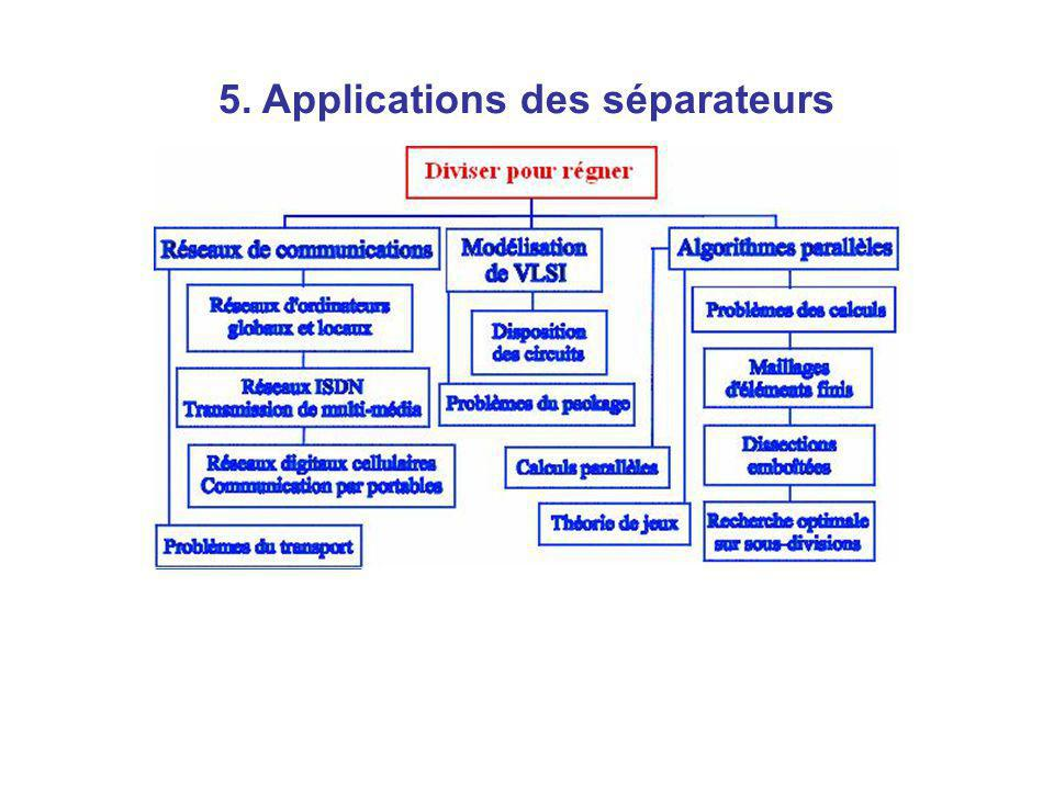 5. Applications des séparateurs