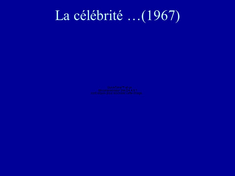 La célébrité …(1967)