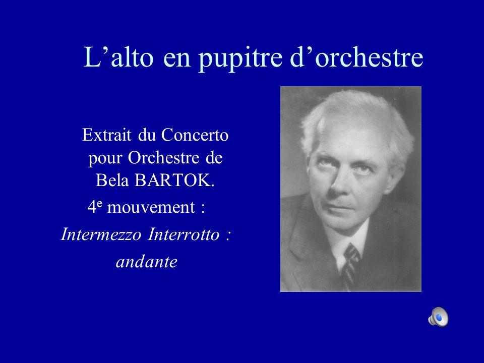 L'alto en pupitre d'orchestre
