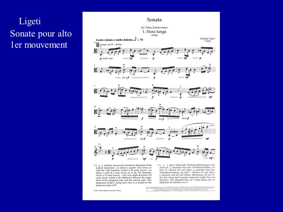 Sonate: Partition Ligeti Sonate pour alto 1er mouvement