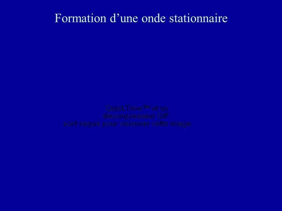 Formation d'une onde stationnaire