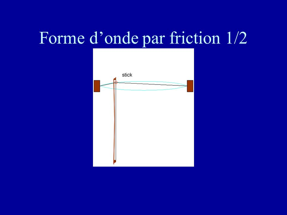 Forme d'onde par friction 1/2