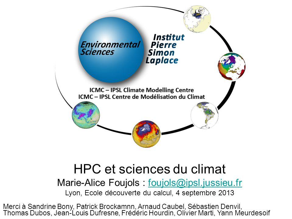 HPC et sciences du climat