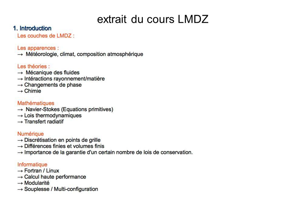 extrait du cours LMDZ LMDZ Z pour Zoom