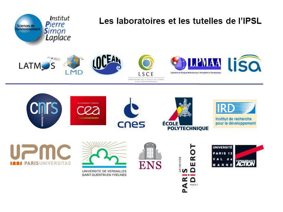 Les laboratoires et les tutelles de l'IPSL