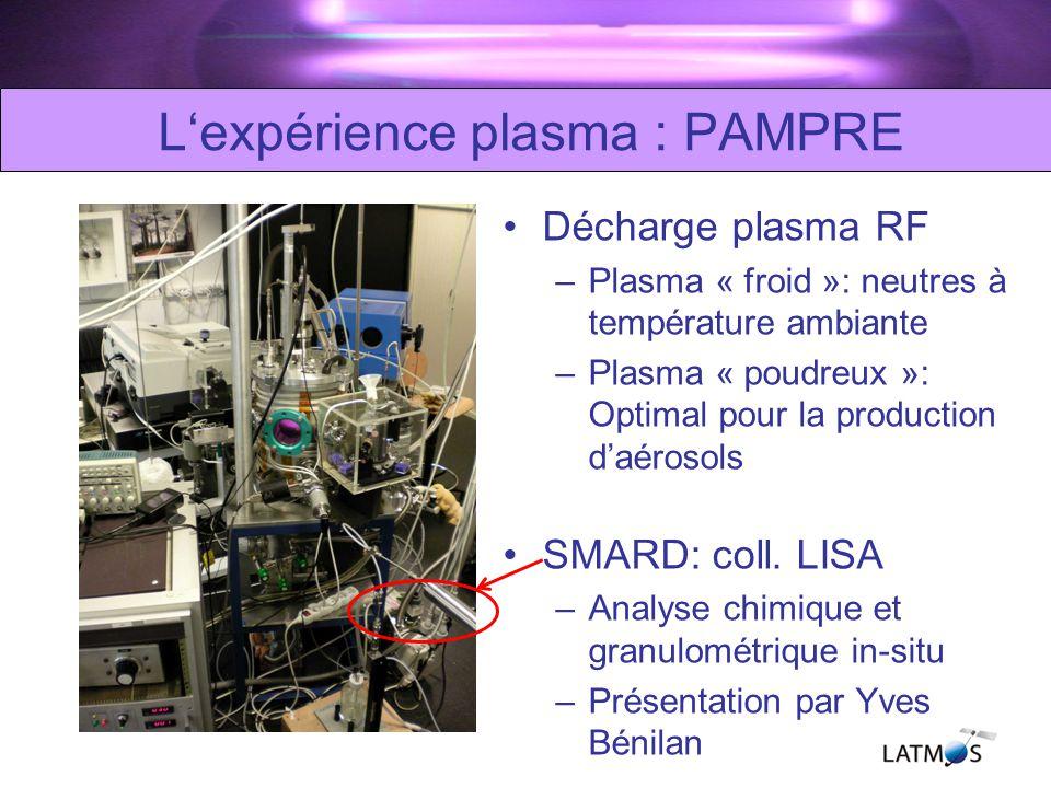 L'expérience plasma : PAMPRE