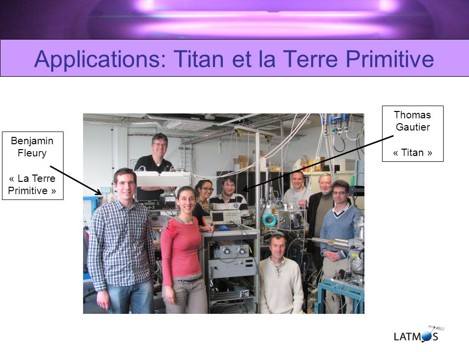 Applications: Titan et la Terre Primitive
