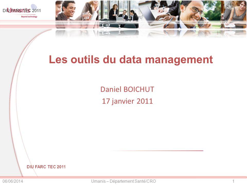 Les outils du data management