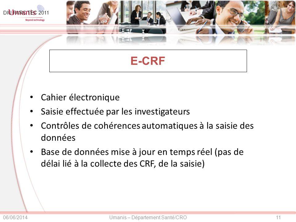 E-CRF Cahier électronique Saisie effectuée par les investigateurs