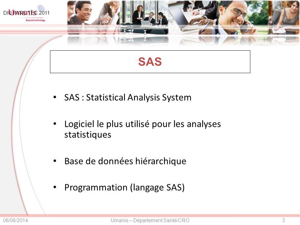 SAS SAS : Statistical Analysis System