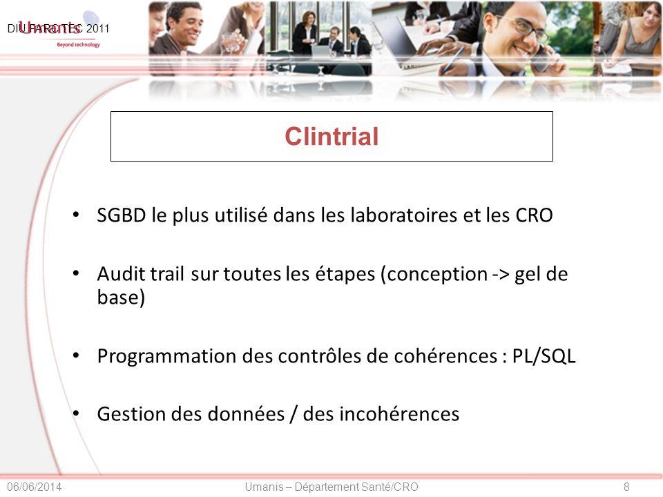 Clintrial SGBD le plus utilisé dans les laboratoires et les CRO