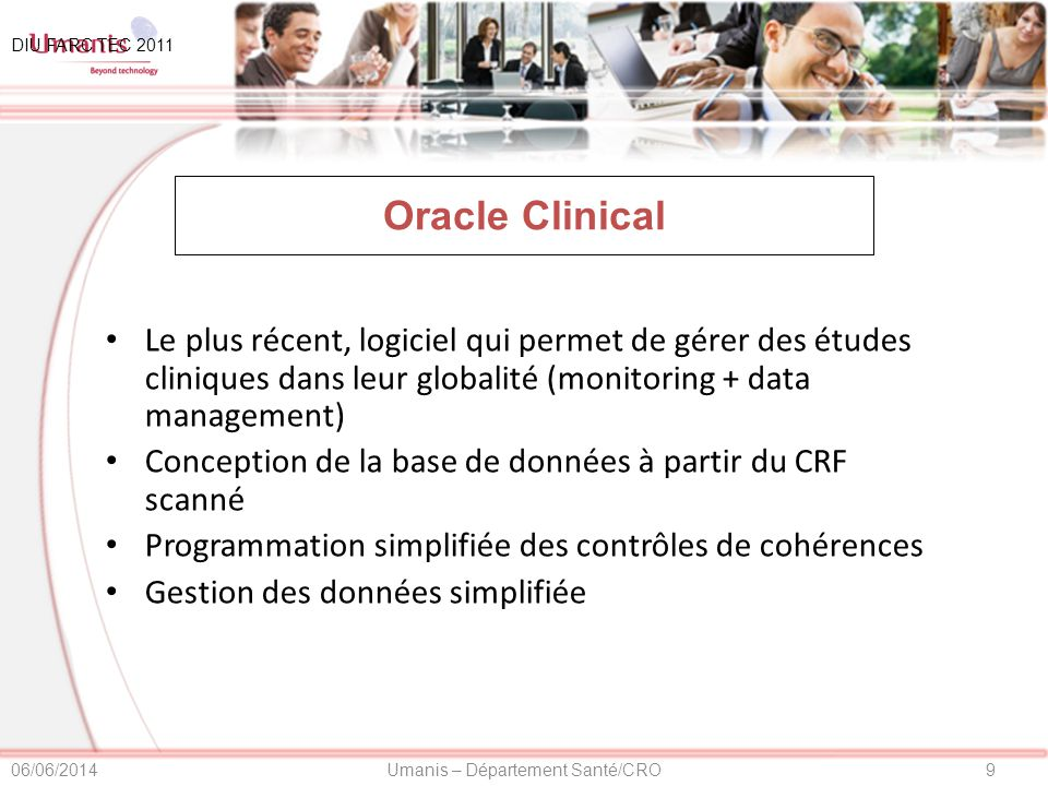 01/04/2017 DIU FARC TEC 2011. Oracle Clinical.