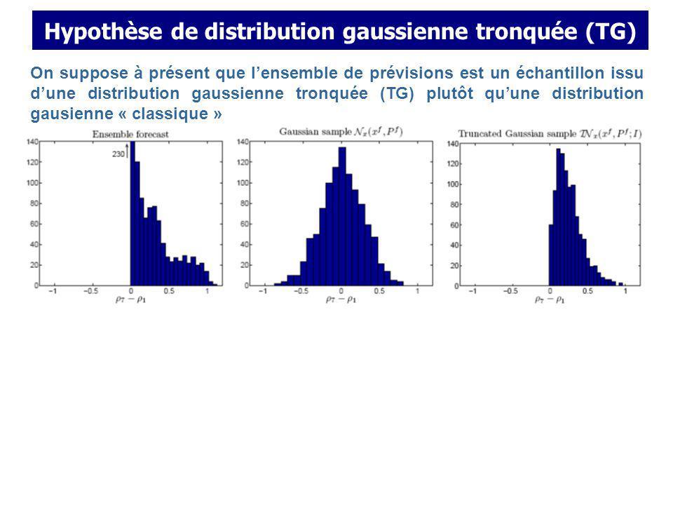 Hypothèse de distribution gaussienne tronquée (TG)
