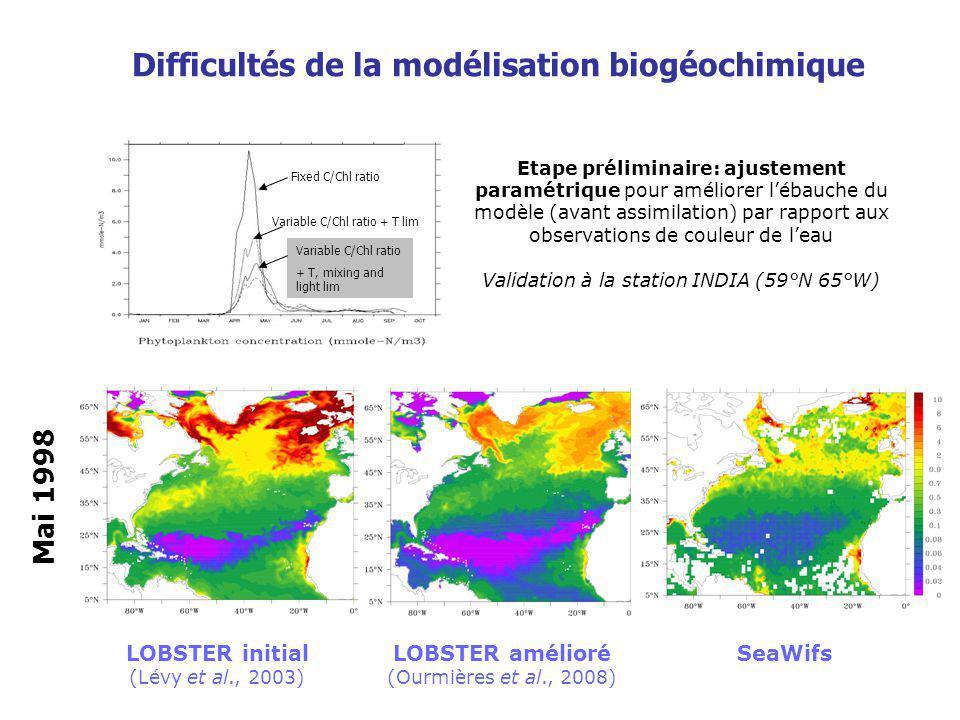 Difficultés de la modélisation biogéochimique