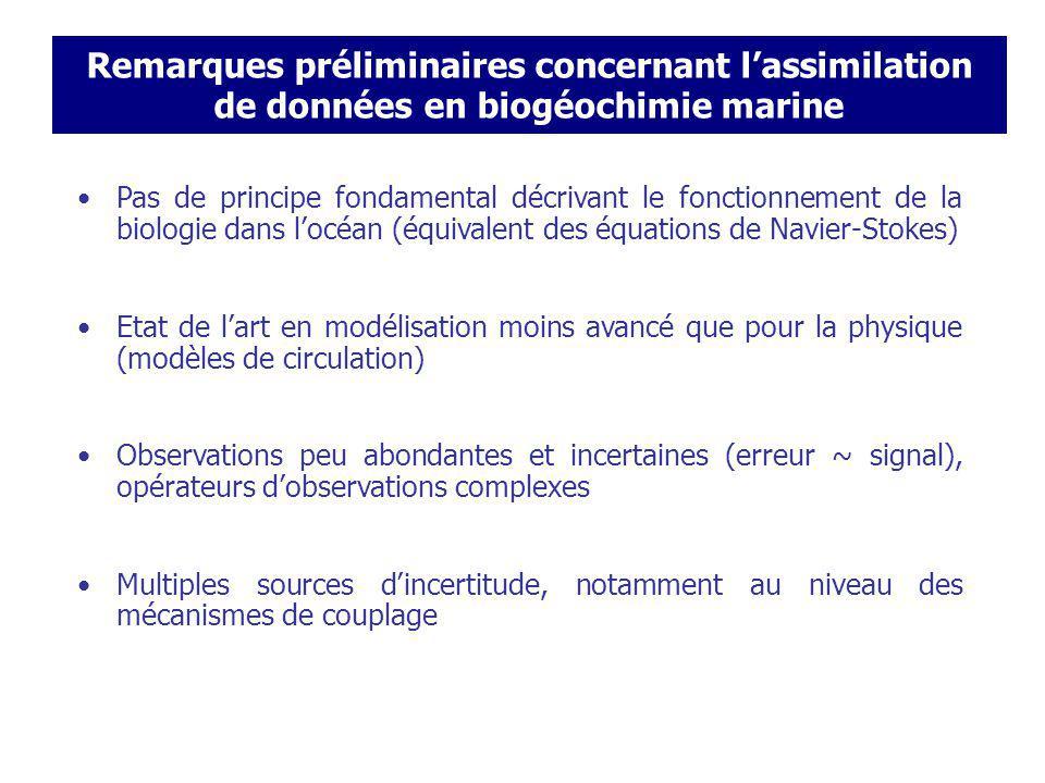 Variational Methods Remarques préliminaires concernant l'assimilation de données en biogéochimie marine.