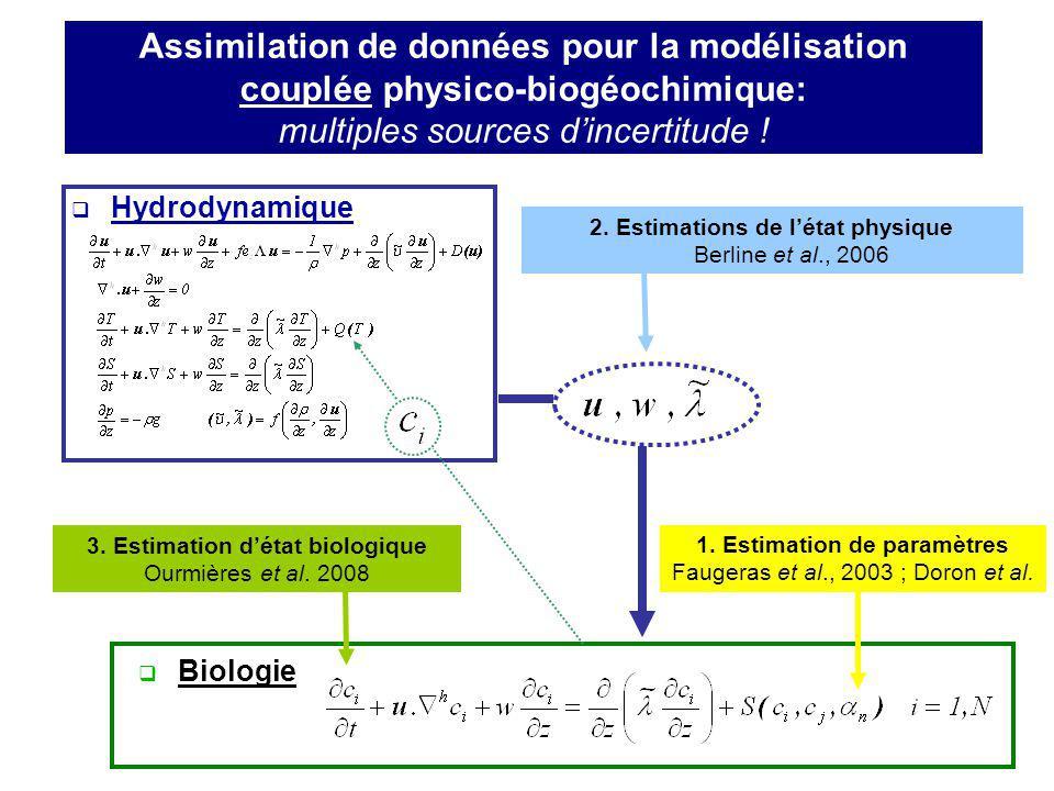 3. Estimation d'état biologique 1. Estimation de paramètres