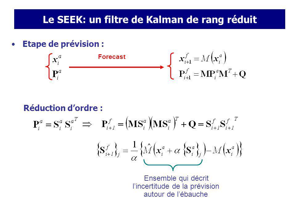 Le SEEK: un filtre de Kalman de rang réduit