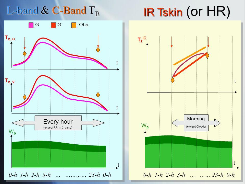 IR Tskin (or HR) L-band & C-Band TB t t t