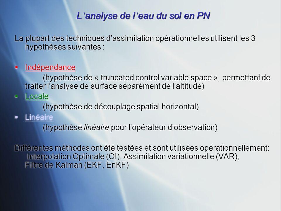 L'analyse de l'eau du sol en PN