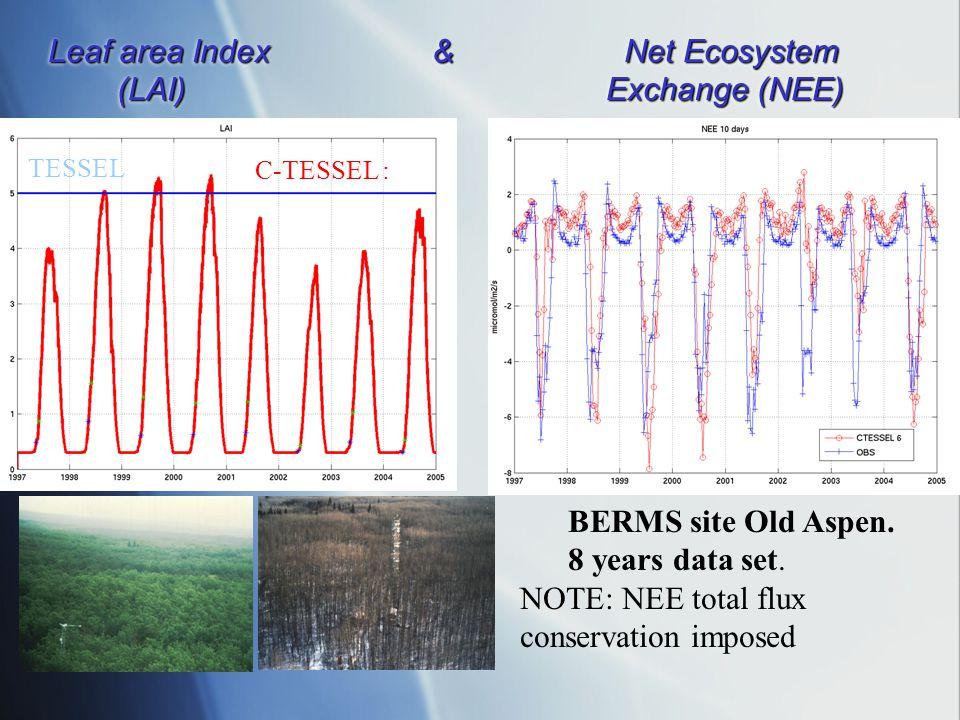 Leaf area Index & Net Ecosystem (LAI) Exchange (NEE)