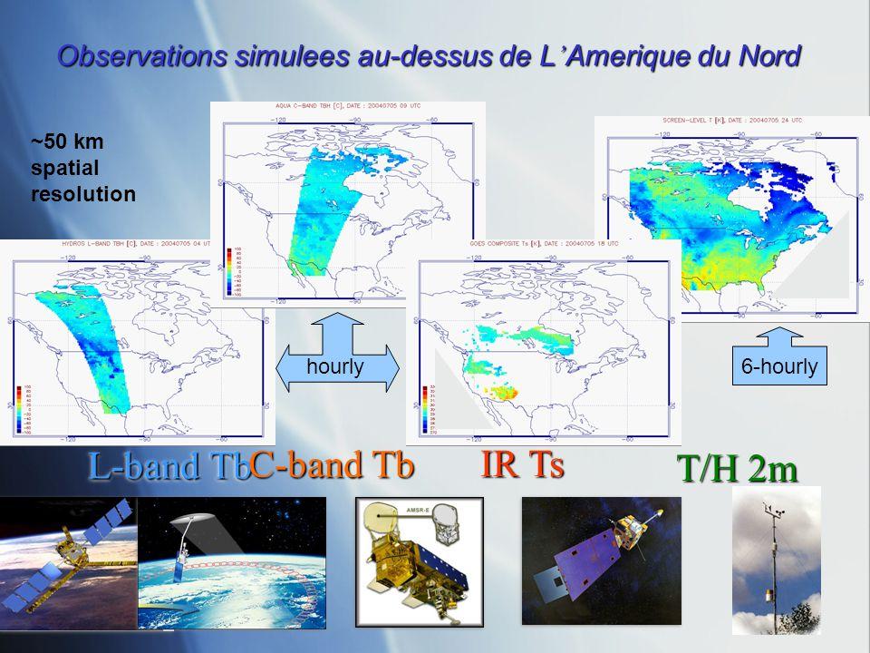 Observations simulees au-dessus de L'Amerique du Nord