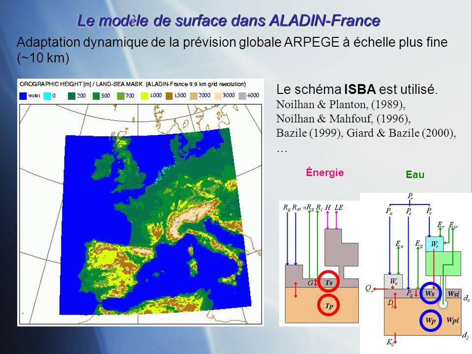 Le modèle de surface dans ALADIN-France
