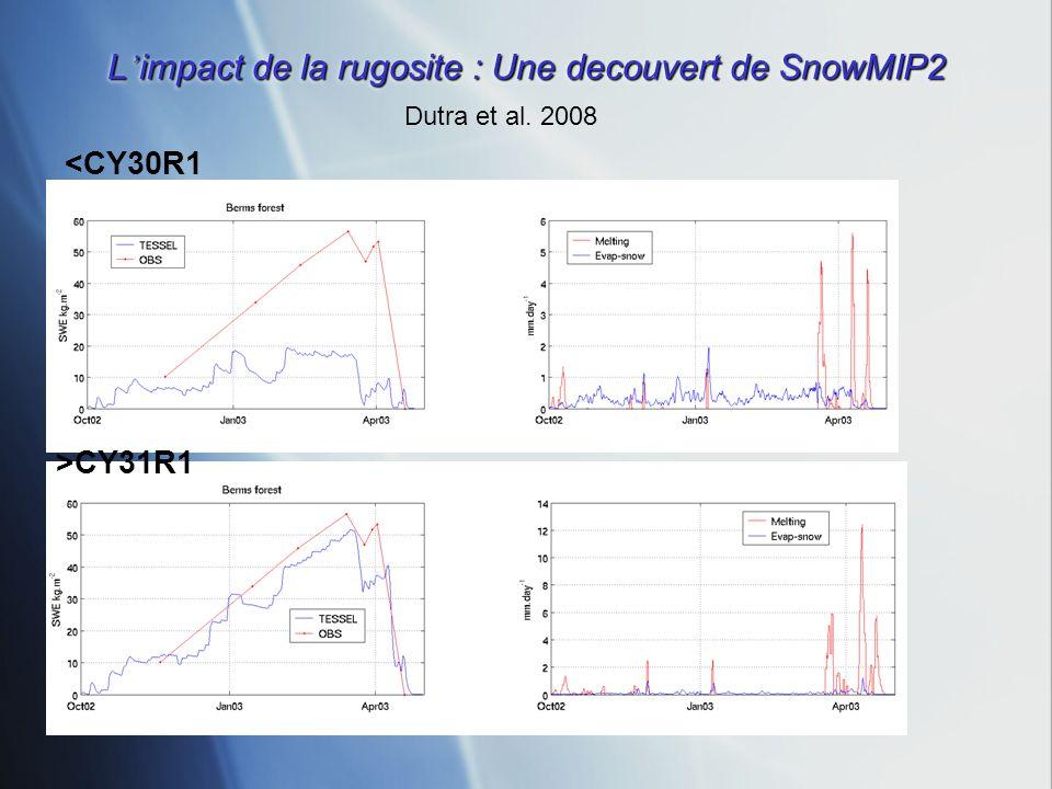 L'impact de la rugosite : Une decouvert de SnowMIP2
