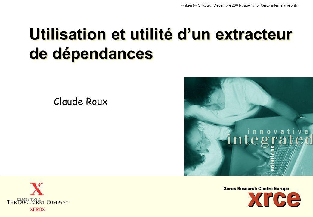 Utilisation et utilité d'un extracteur de dépendances