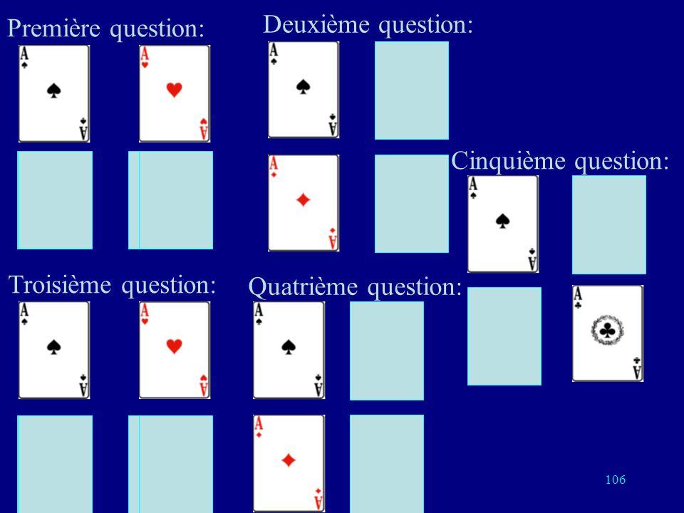 Première question: Deuxième question: Cinquième question: Troisième question: Quatrième question: