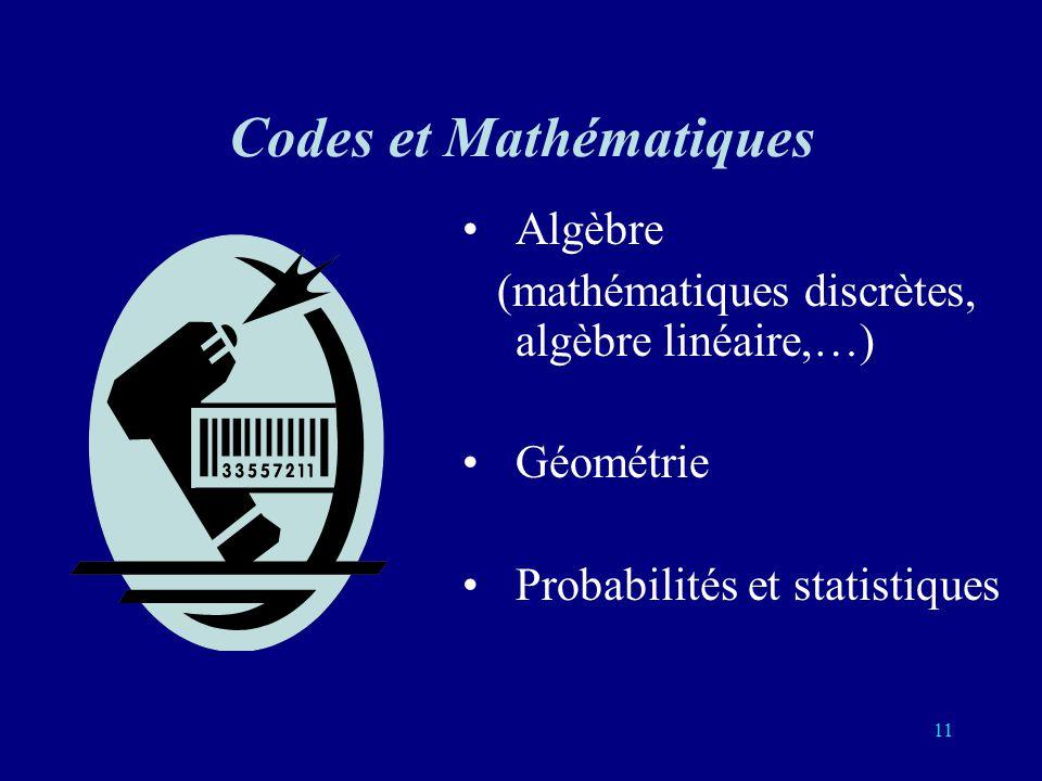 Codes et Mathématiques