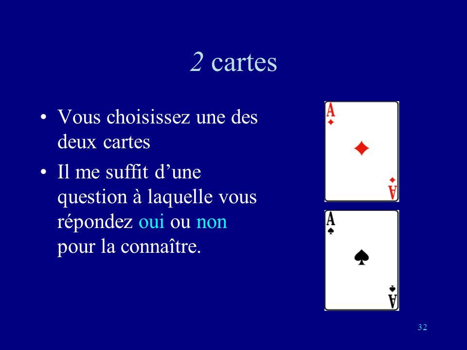 2 cartes Vous choisissez une des deux cartes
