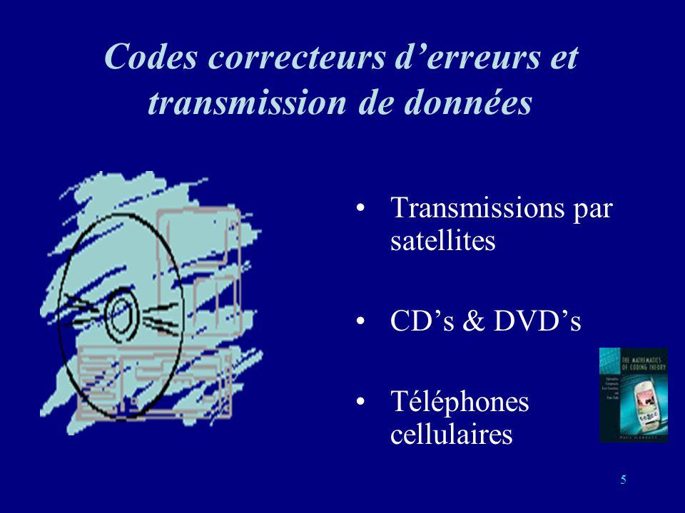 Codes correcteurs d'erreurs et transmission de données