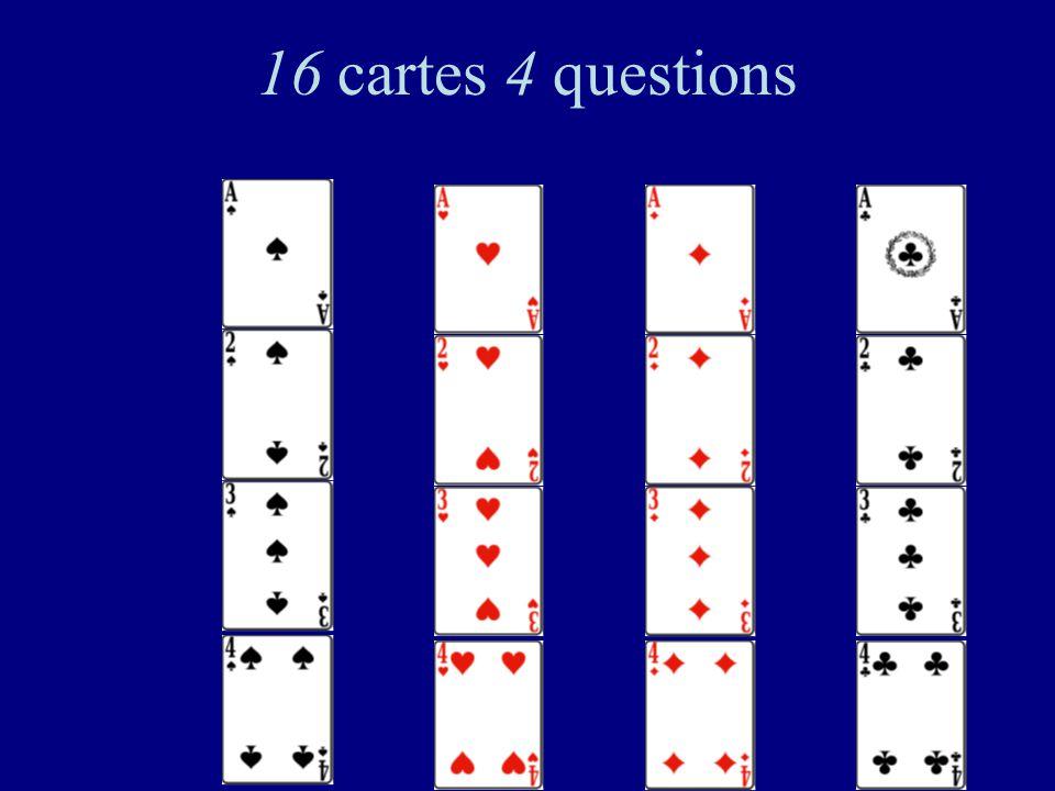16 cartes 4 questions