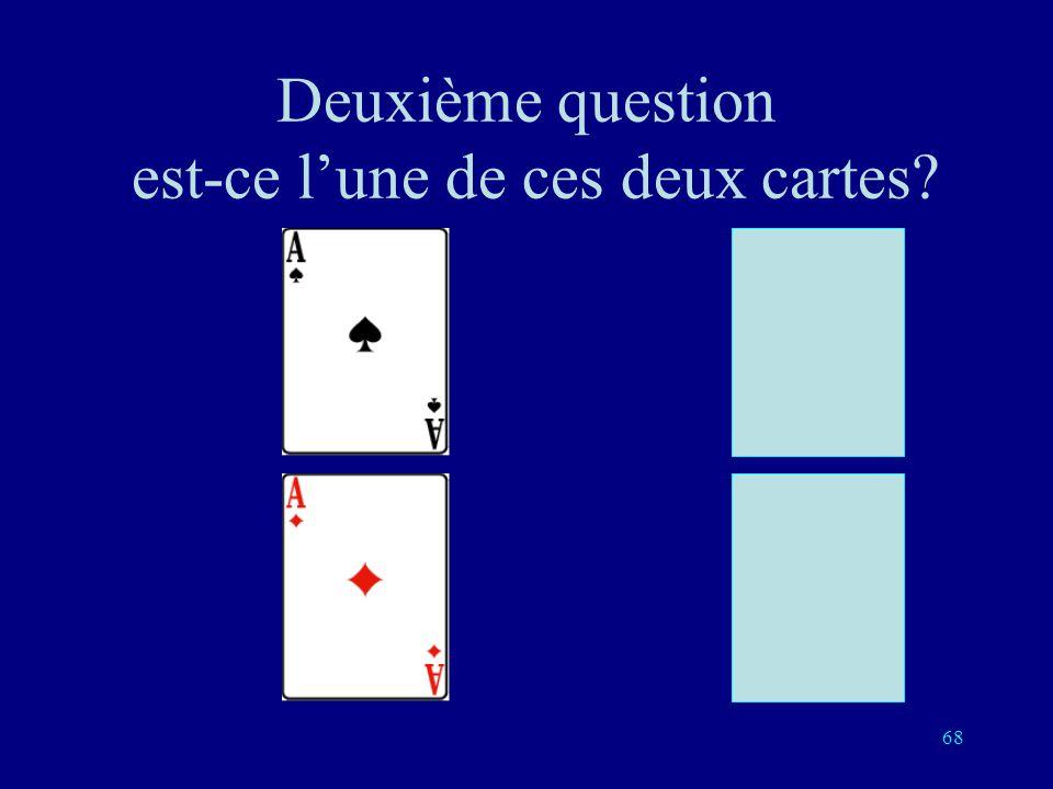 Deuxième question est-ce l'une de ces deux cartes