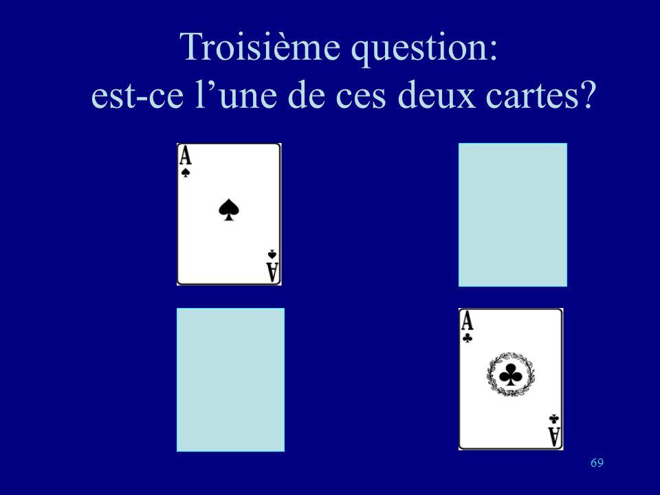 Troisième question: est-ce l'une de ces deux cartes