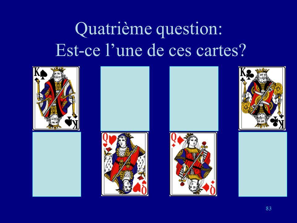 Quatrième question: Est-ce l'une de ces cartes