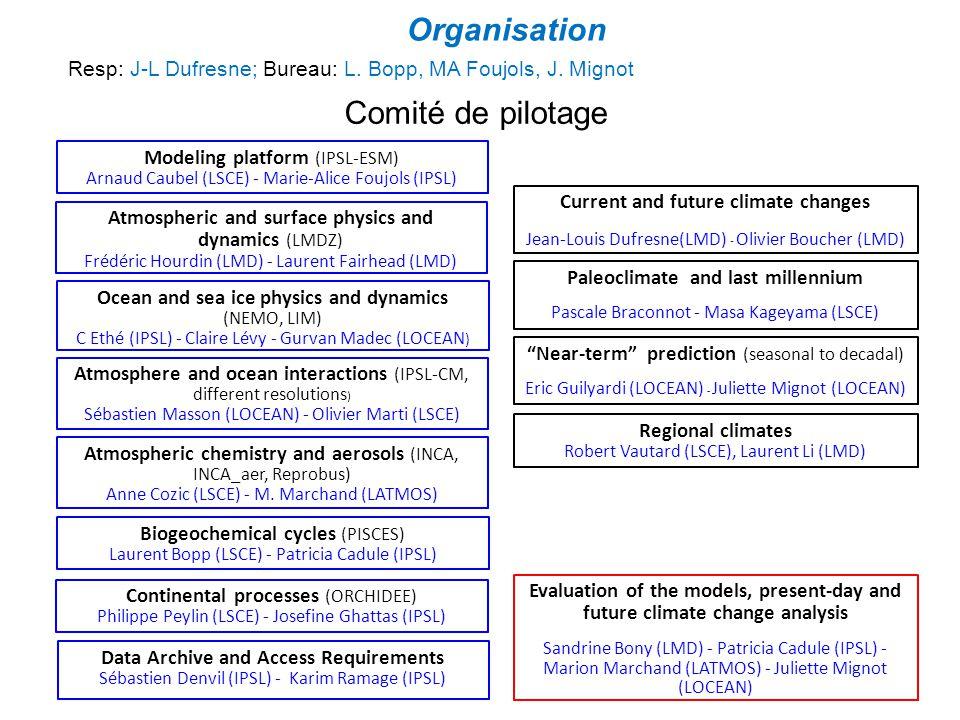 Organisation Comité de pilotage
