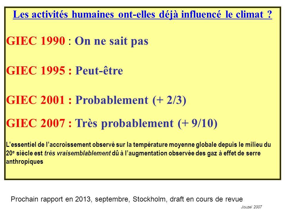Les activités humaines ont-elles déjà influencé le climat