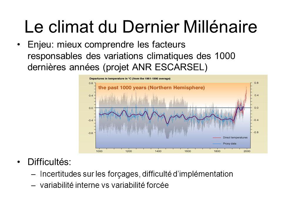 Le climat du Dernier Millénaire