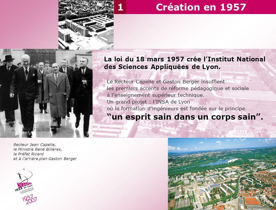 1 Création en 1957 un esprit sain dans un corps sain .