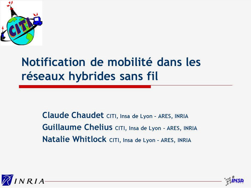 Notification de mobilité dans les réseaux hybrides sans fil