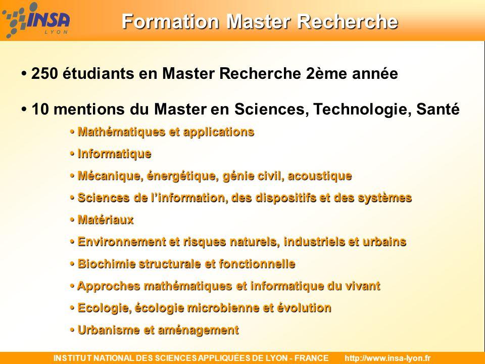 Formation Master Recherche