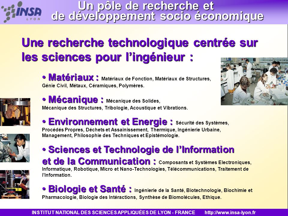 Un pôle de recherche et de développement socio économique