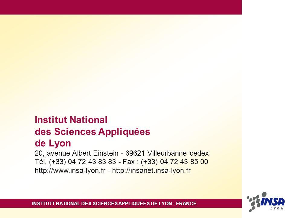 des Sciences Appliquées de Lyon