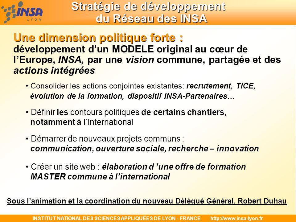 Stratégie de développement du Réseau des INSA