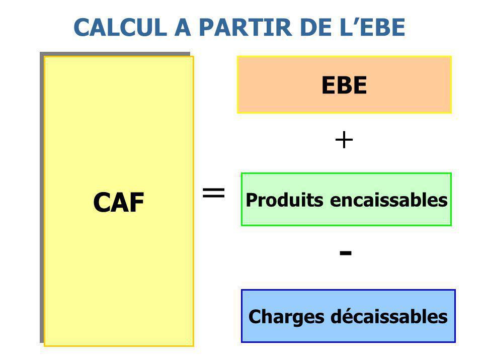CALCUL A PARTIR DE L'EBE